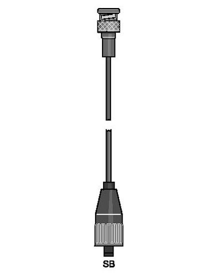 כבל מדידה מתאם 1m - SN6-BNC
